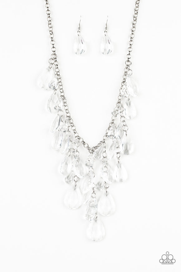 Irresistible Iridescence - white - Paparazzi necklace