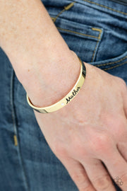 "Paparazzi ""Every Day Is Mother's Day"" Gold Bracelet - Glitzygals5dollarbling Paparazzi Boutique"