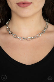 Paparazzi Urban Uplink Silver Choker Necklace