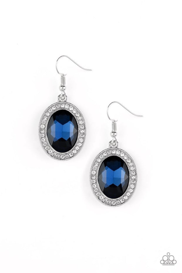 "Paparazzi ""Only FAME in Town"" Blue Earrings - Glitzygals5dollarbling Paparazzi Boutique"