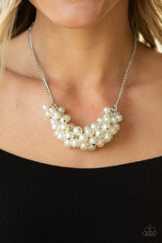 Grandiose Glimmer - white - Paparazzi necklace - Glitzygals5dollarbling Paparazzi Boutique