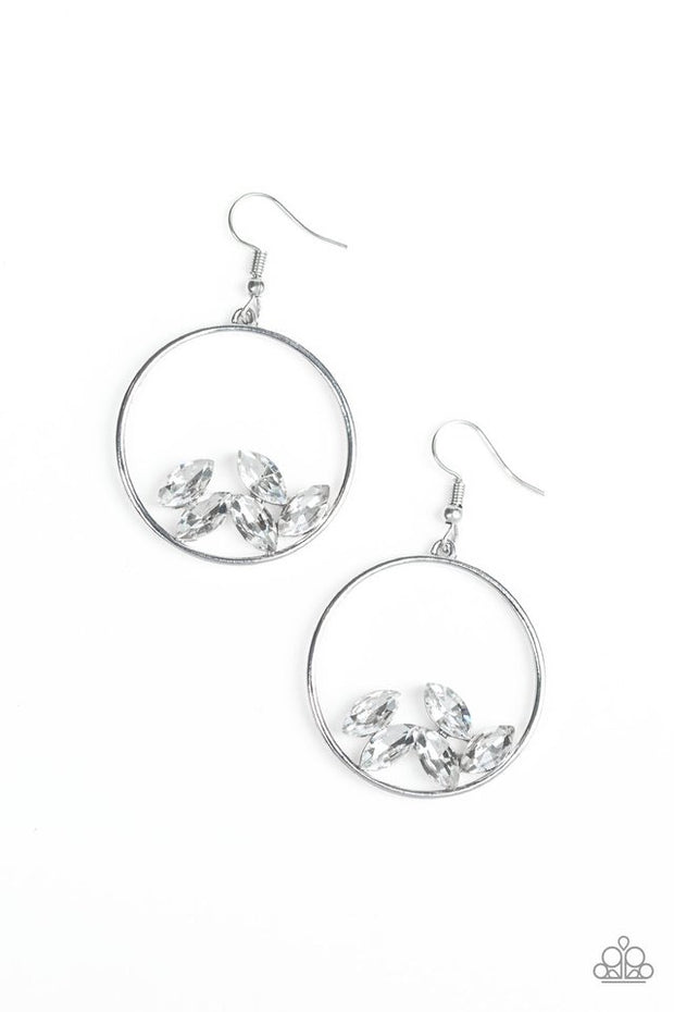 Paparazzi Cue the Confetti White Earrings - Glitzygals5dollarbling Paparazzi Boutique