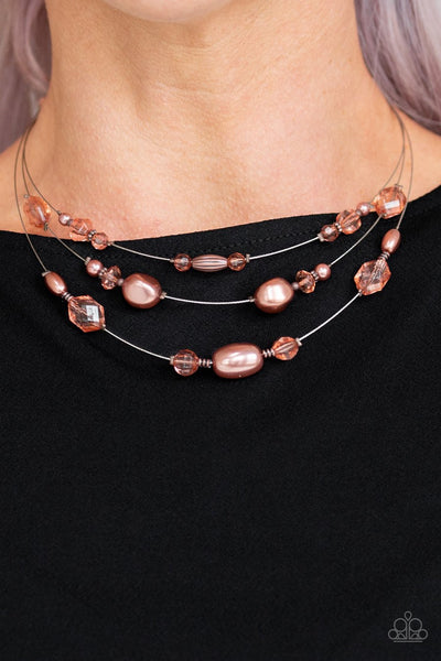 Paparazzi Pacific Pageantry Copper and Silver Necklace - Glitzygals5dollarbling Paparazzi Boutique