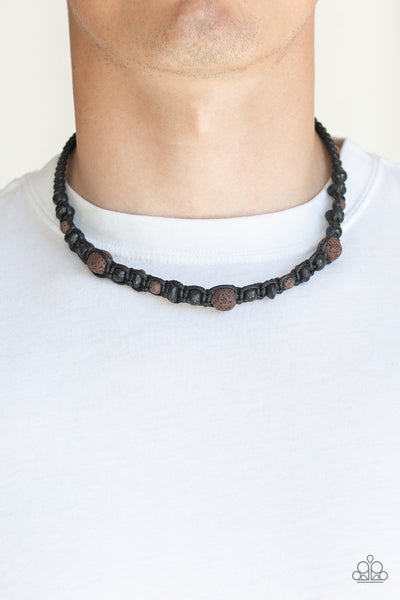 Paparazzi Shark Baiter - Brown Urban Necklace