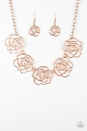 Budding Beauty - rose gold - Paparazzi necklace - Glitzygals5dollarbling Paparazzi Boutique