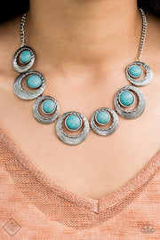 Paparazzi Lions, Tigers, and Bears Blue Fashion Fix Exclusive Necklace Silver - Glitzygals5dollarbling Paparazzi Boutique