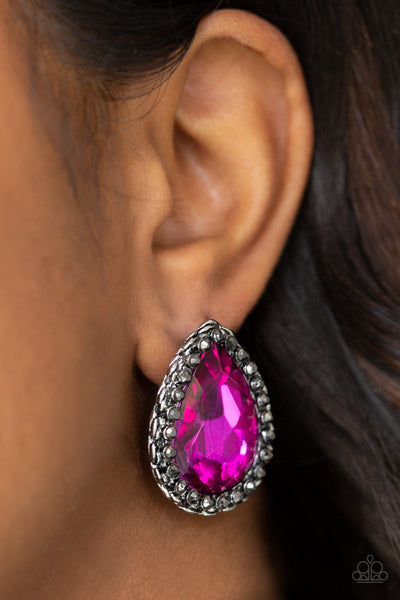 Paparazzi Dare To Shine - Pink Earrings - Glitzygals5dollarbling Paparazzi Boutique