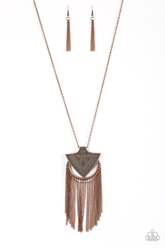 Paparazzi Hunt or Be Hunted Copper Necklace