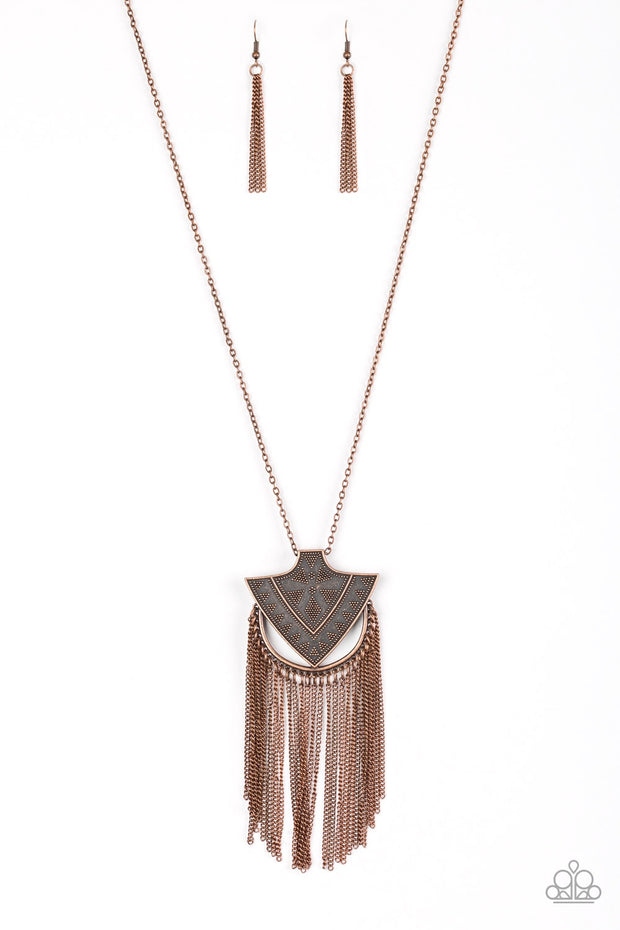 Paparazzi Hunt or Be Hunted Copper Necklace - Glitzygals5dollarbling Paparazzi Boutique