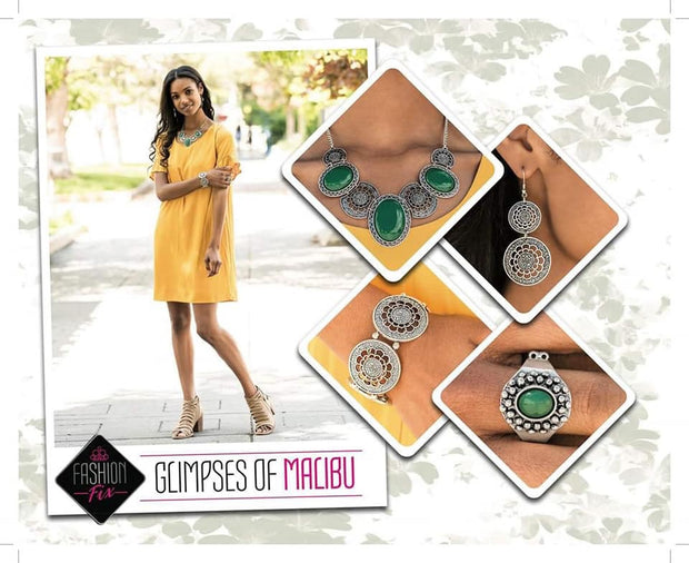 Paparazzi Glimpses of Malibu Complete Trend Blend Fashion Fix Exclusive Set September 2019 - Glitzygals5dollarbling Paparazzi Boutique