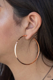 5th Avenue Attitude - copper - Paparazzi earrings