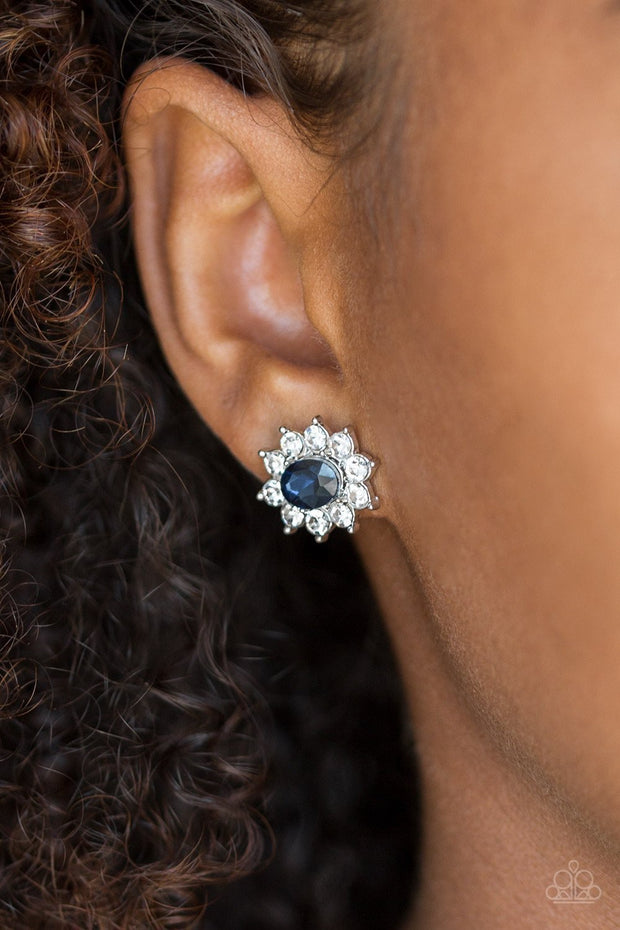 "Paparazzi ""Starry Nights"" Post Earring Blue - Glitzygals5dollarbling Paparazzi Boutique"