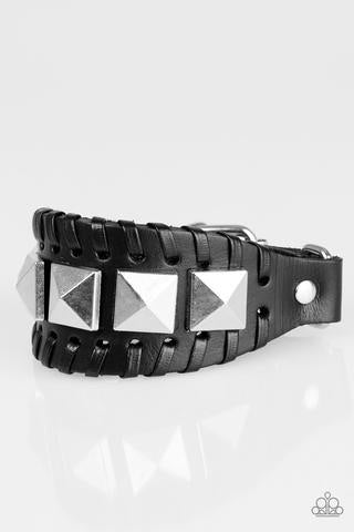 Paparazzi Riders Rally Black Urban Bracelet - Glitzygals5dollarbling Paparazzi Boutique