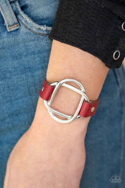 Paparazzi Nautically Knotted - Red Bracelet - Glitzygals5dollarbling Paparazzi Boutique