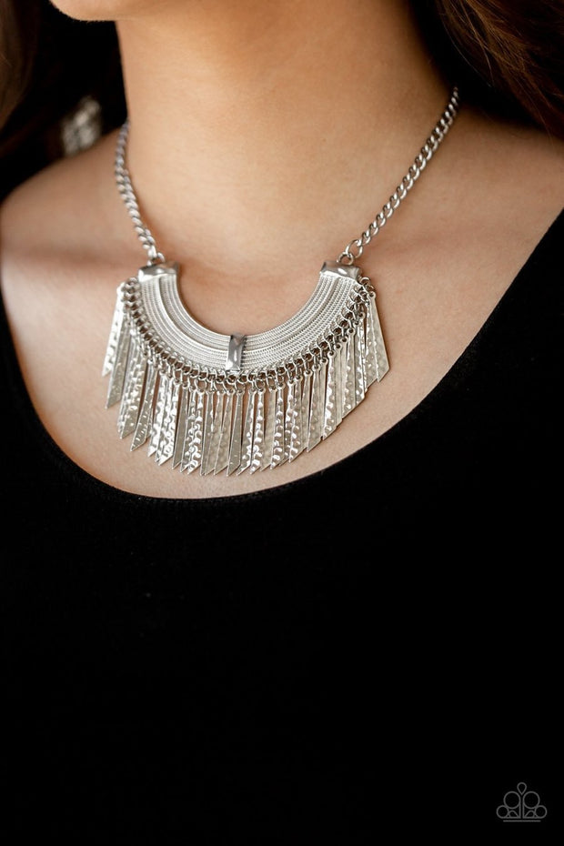 Impressively Incan - silver - Paparazzi necklace - Glitzygals5dollarbling Paparazzi Boutique