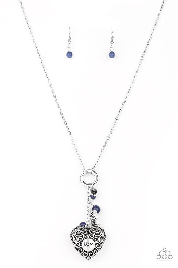 Paparazzi Mom Hustle - Blue Necklace Mother's Day
