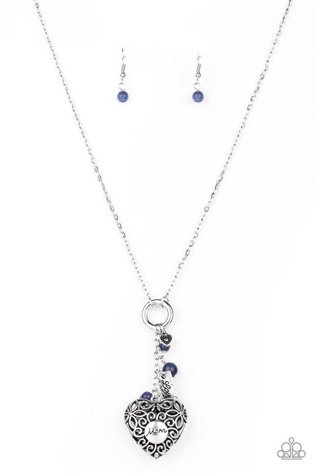 Paparazzi Mom Hustle - Blue Necklace Mother's Day - Glitzygals5dollarbling Paparazzi Boutique