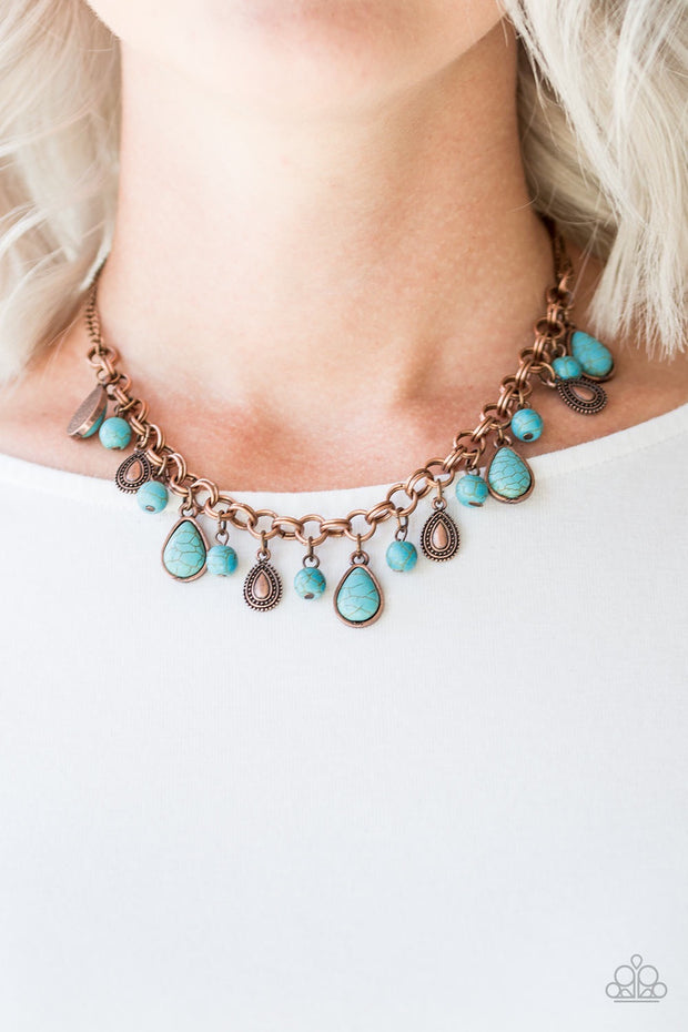 Paparazzi Welcome To Bedrock Copper Necklace - Glitzygals5dollarbling Paparazzi Boutique