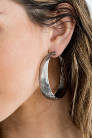 PREORDER Desert Wanderings - Silver Paparazzi Earrings Fashion Fix Exclusive - Glitzygals5dollarbling Paparazzi Boutique