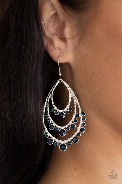 Break Out In TIERS - blue - Paparazzi earrings