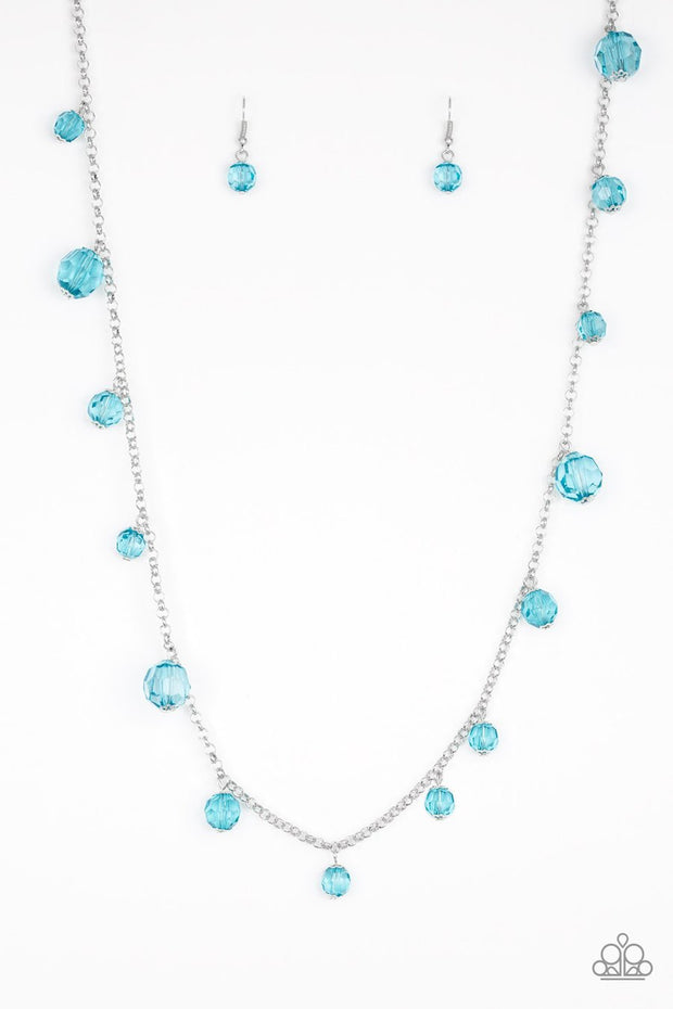 GLOW Rider - blue - Paparazzi necklace - Glitzygals5dollarbling Paparazzi Boutique