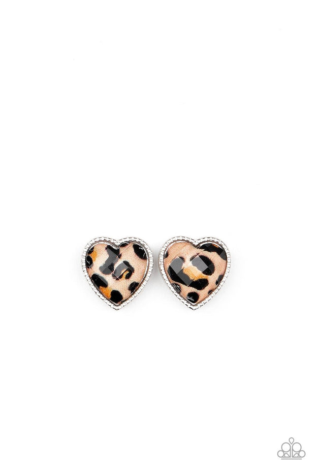 Paparazzi Starlet Shimmer - CHEETAH! - Post Earrings - 10 - Round, Triangle, Heart, Square & Stars - Glitzygals5dollarbling Paparazzi Boutique
