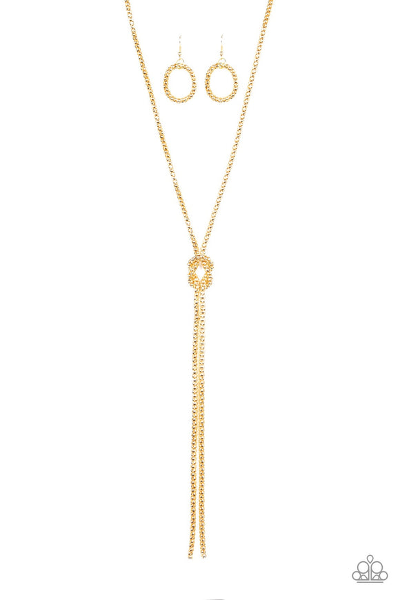 Paparazzi Born Ready Gold Necklace