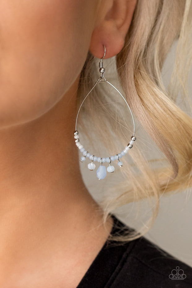 Exquisitely Ethereal - Blue Paparazzi Earrings - Glitzygals5dollarbling Paparazzi Boutique