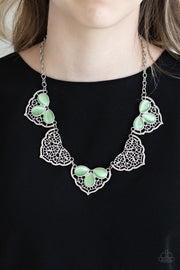 PAPARAZZI EAST COAST ESSENCE - GREEN Necklace - Glitzygals5dollarbling Paparazzi Boutique