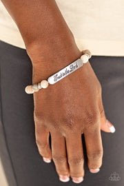 PREORDER Paparazzi Keep The Trust - Brown Inspirational Bracelet