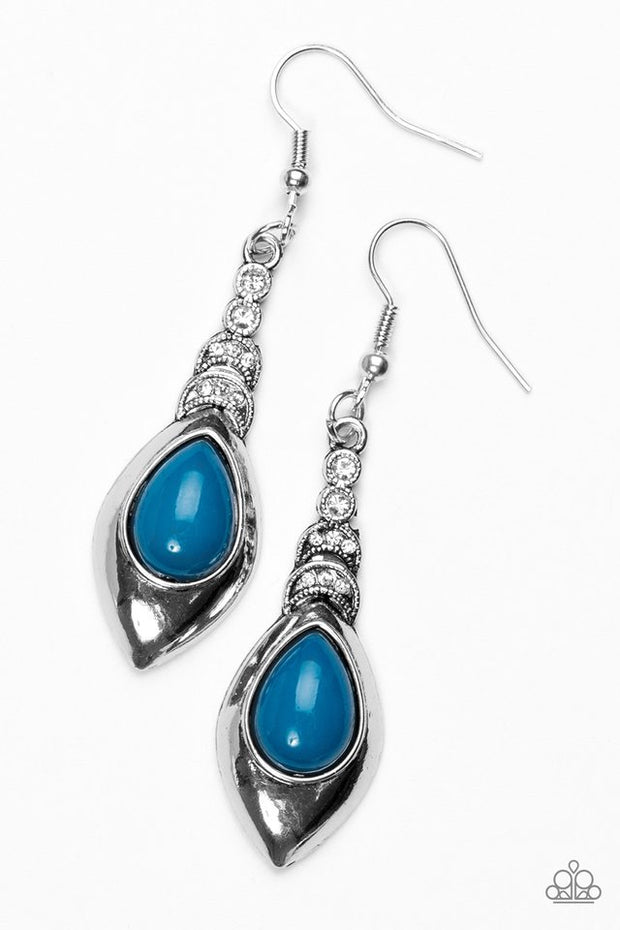 "Paparazzi ""You Know Hue"" Blue Earrings - Glitzygals5dollarbling Paparazzi Boutique"