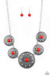 Paparazzi Hey, SOL Sister Red Necklace - Glitzygals5dollarbling Paparazzi Boutique