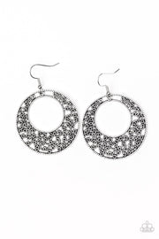 Wistfully Winchester - silver - Paparazzi earrings