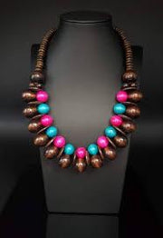 Paparazzi Caribbean Cover Girl - Multi Wooden Necklace - Glitzygals5dollarbling Paparazzi Boutique