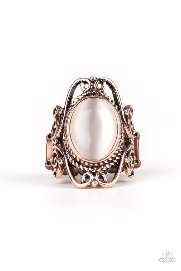 Paparazzi Fairytale Flair - Copper - Cat's Eye Stone - Filigree Ring