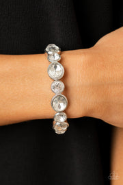 Paparazzi Still GLOWING Strong - White Bracelet Life of the Party Exclusive - Glitzygals5dollarbling Paparazzi Boutique