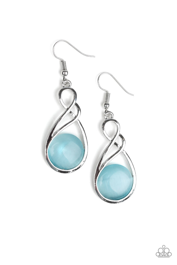 "Paparazzi ""Swept Away"" Blue Earrings - Glitzygals5dollarbling Paparazzi Boutique"