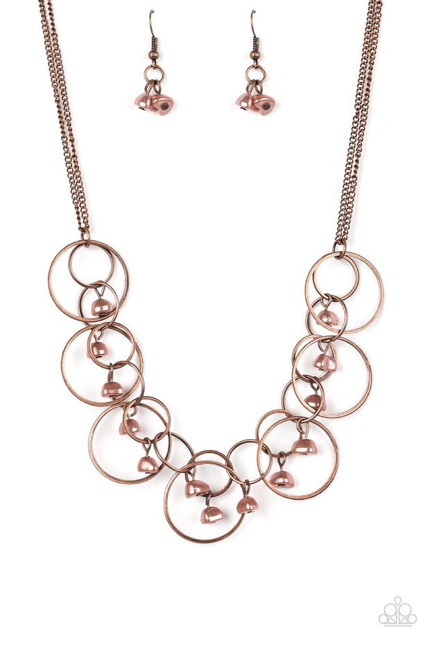 Paparazzi Seafront Scene Copper Necklace - Glitzygals5dollarbling Paparazzi Boutique