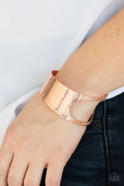Paparazzi What GLEAMS Are Made Of - Copper - Asymmetrical Cutout - Cuff Bracelet