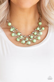 Paparazzi Seaside Soiree - Green Necklace - Glitzygals5dollarbling Paparazzi Boutique