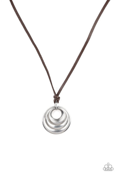 Desert Spiral - silver - Paparazzi mens necklace