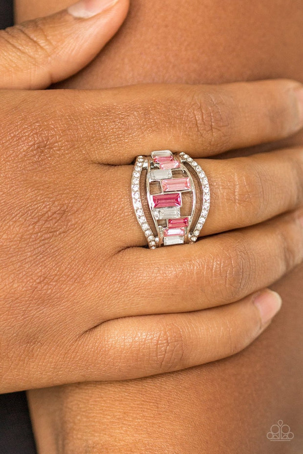 Paparazzi Treasure Chest Charm - Pink Ring - Glitzygals5dollarbling Paparazzi Boutique