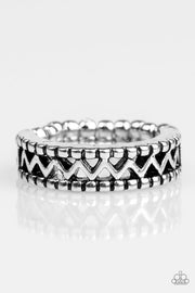 Paparazzi Thunder and Lightning Silver Ring - Glitzygals5dollarbling Paparazzi Boutique