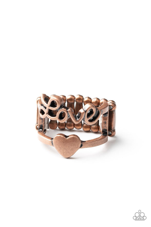 Paparazzi Heartstring Harmony - Copper - Love Ring - Glitzygals5dollarbling Paparazzi Boutique
