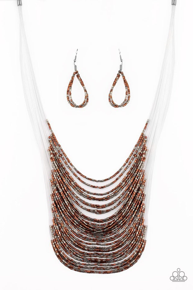 Paparazzi Catwalk Queen Multi Seed Bead Necklace - Glitzygals5dollarbling Paparazzi Boutique