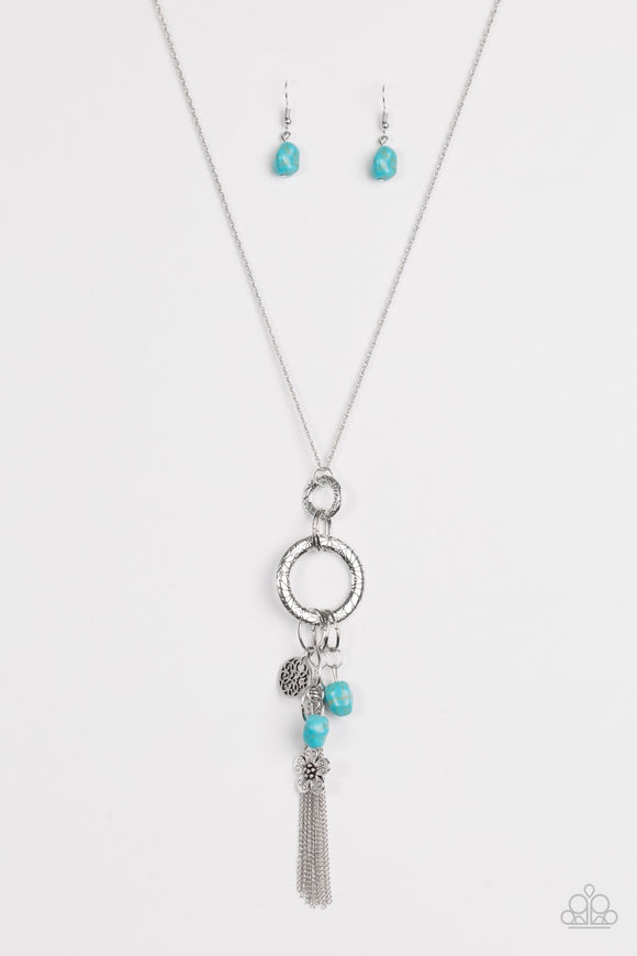 Paparazzi Tour de Desert Blue Necklace