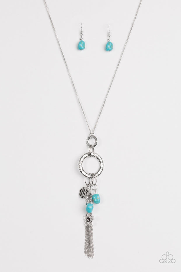 Paparazzi Tour de Desert Blue Necklace - Glitzygals5dollarbling Paparazzi Boutique