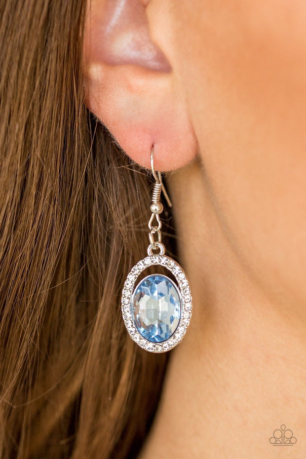 Paparazzi Imperial SHINE-ness Blue Earring - Glitzygals5dollarbling Paparazzi Boutique