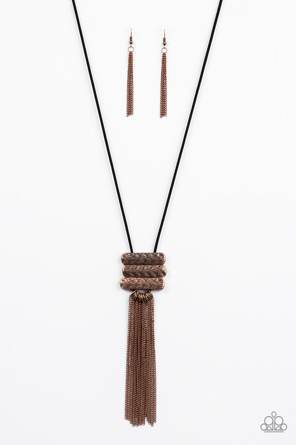 Paparazzi All About ALTITUDE Copper Necklace