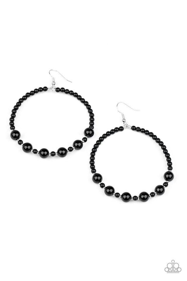 Paparazzi Earring ~ Boss Posh - Black